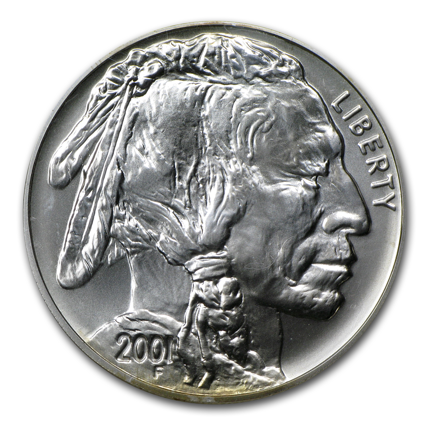 2001 American Buffalo $1 Silver Commem - Coin & Currency Set